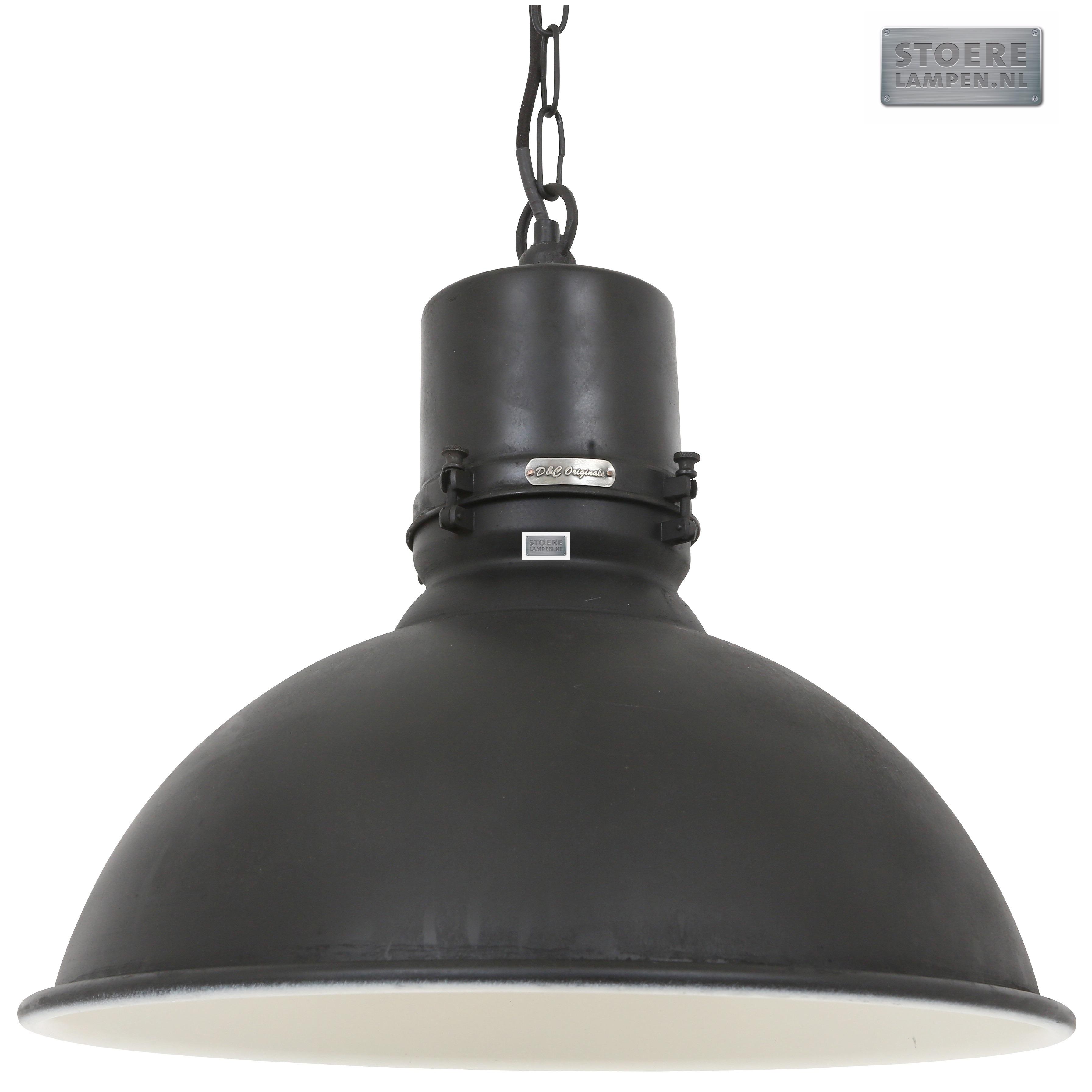 Grote fabriekslamp zwart online kopen for Grote hanglamp eettafel