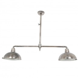 zilveren dubbele hanglamp