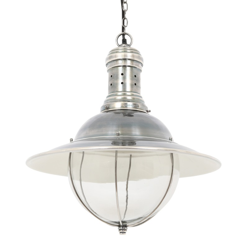 landelijke glazen hanglamp
