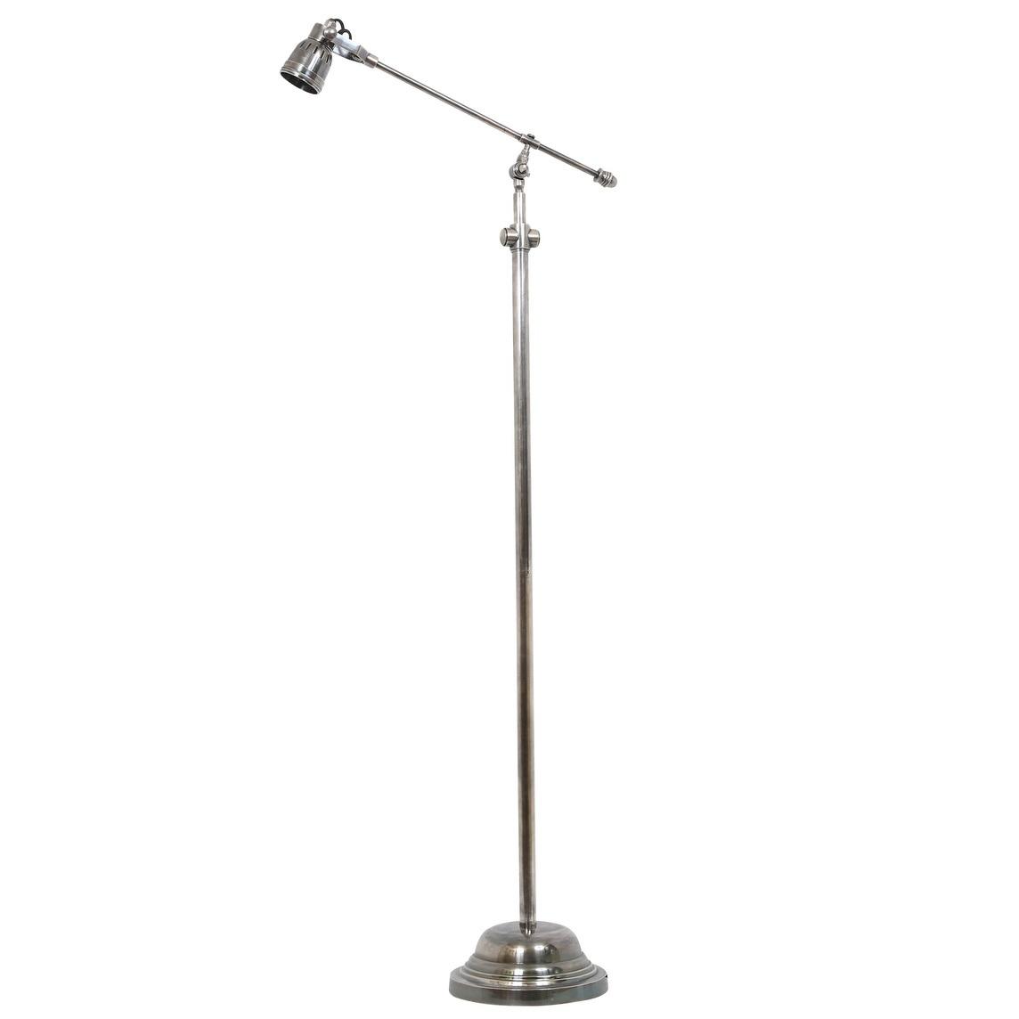 zilveren staande lamp