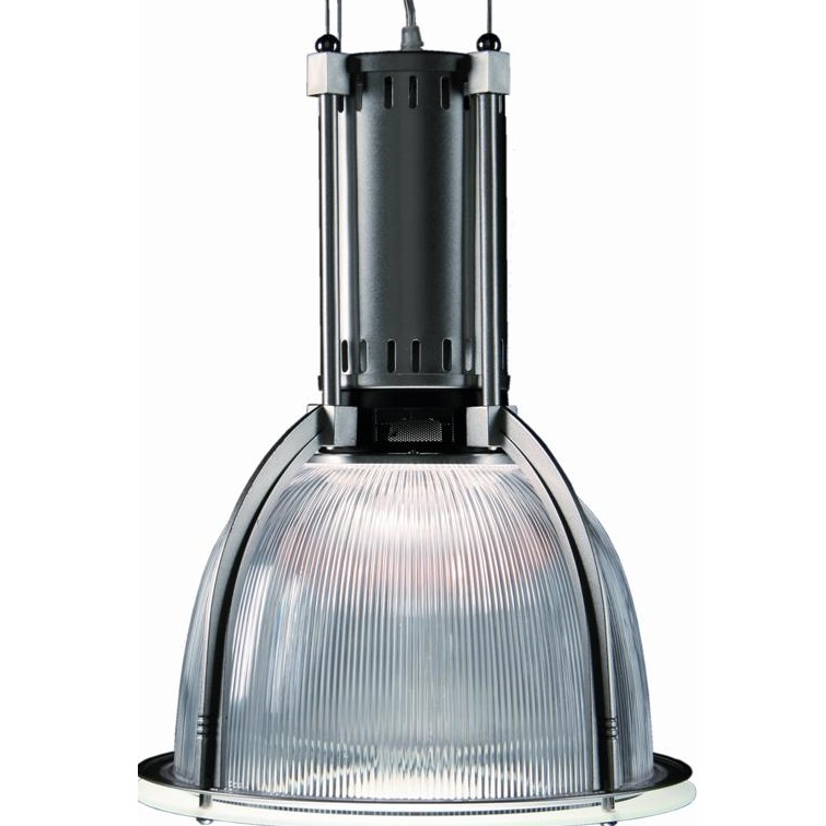 Hanglamp transparant als stoere industrieverlichting - Kantoor transparant glas ...