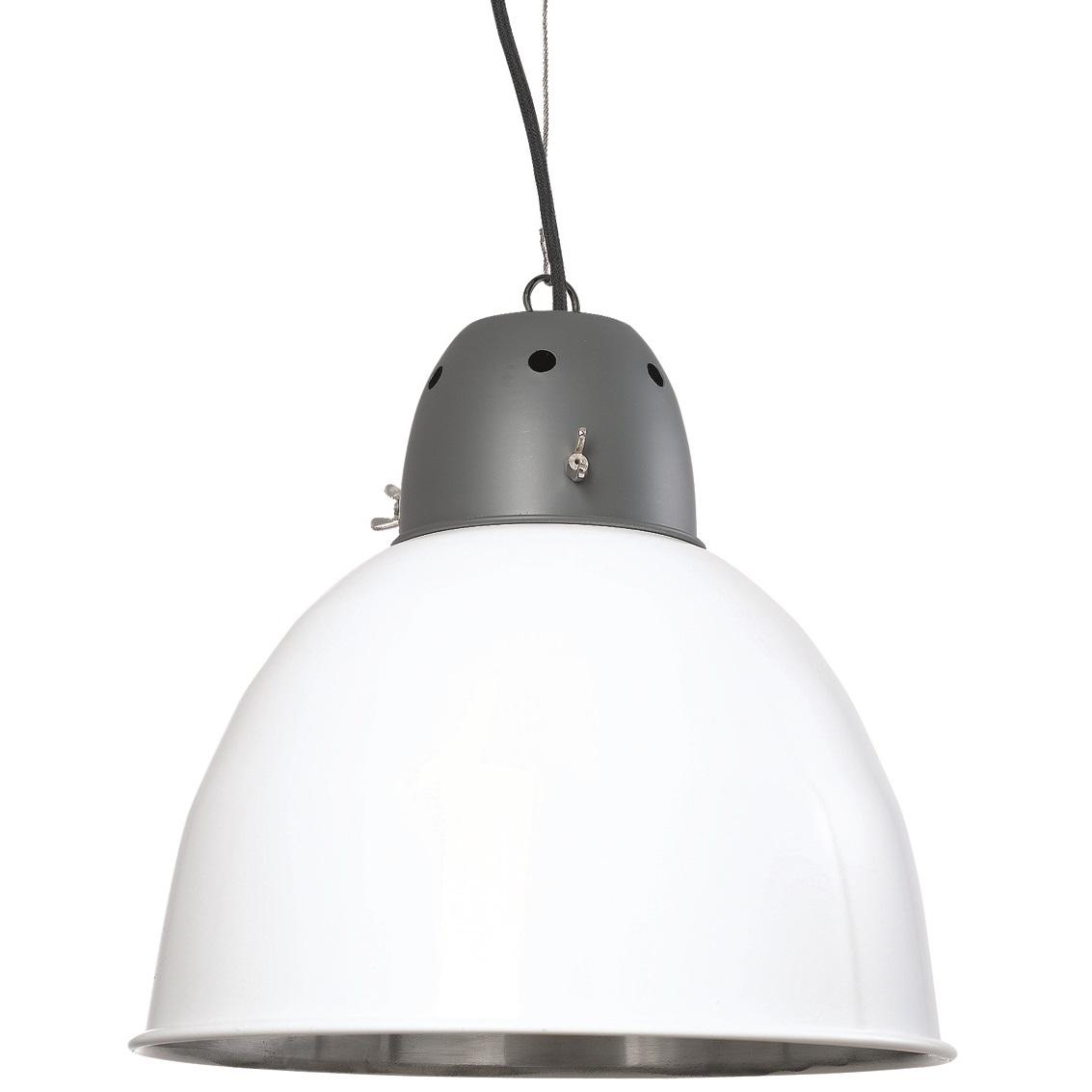 Keukenlamp Landelijk : Industri?le Hanglamp Wit met vleugmoeren, fabriekslamp