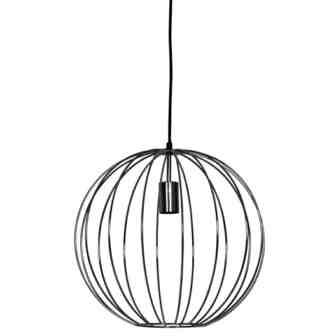 Zwarte opengewerkte bollamp