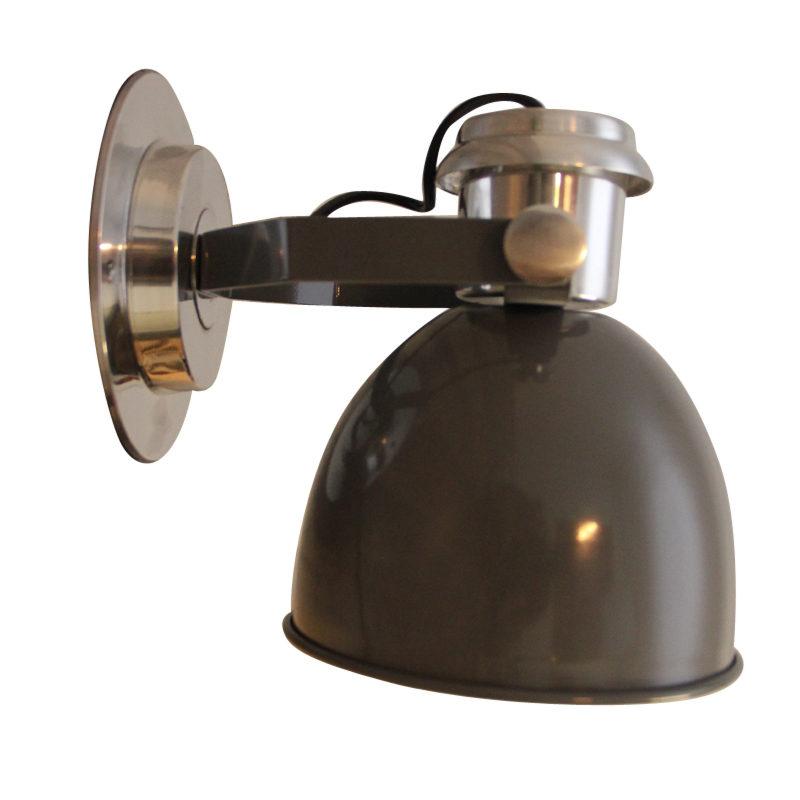 grijze industriële wandlamp