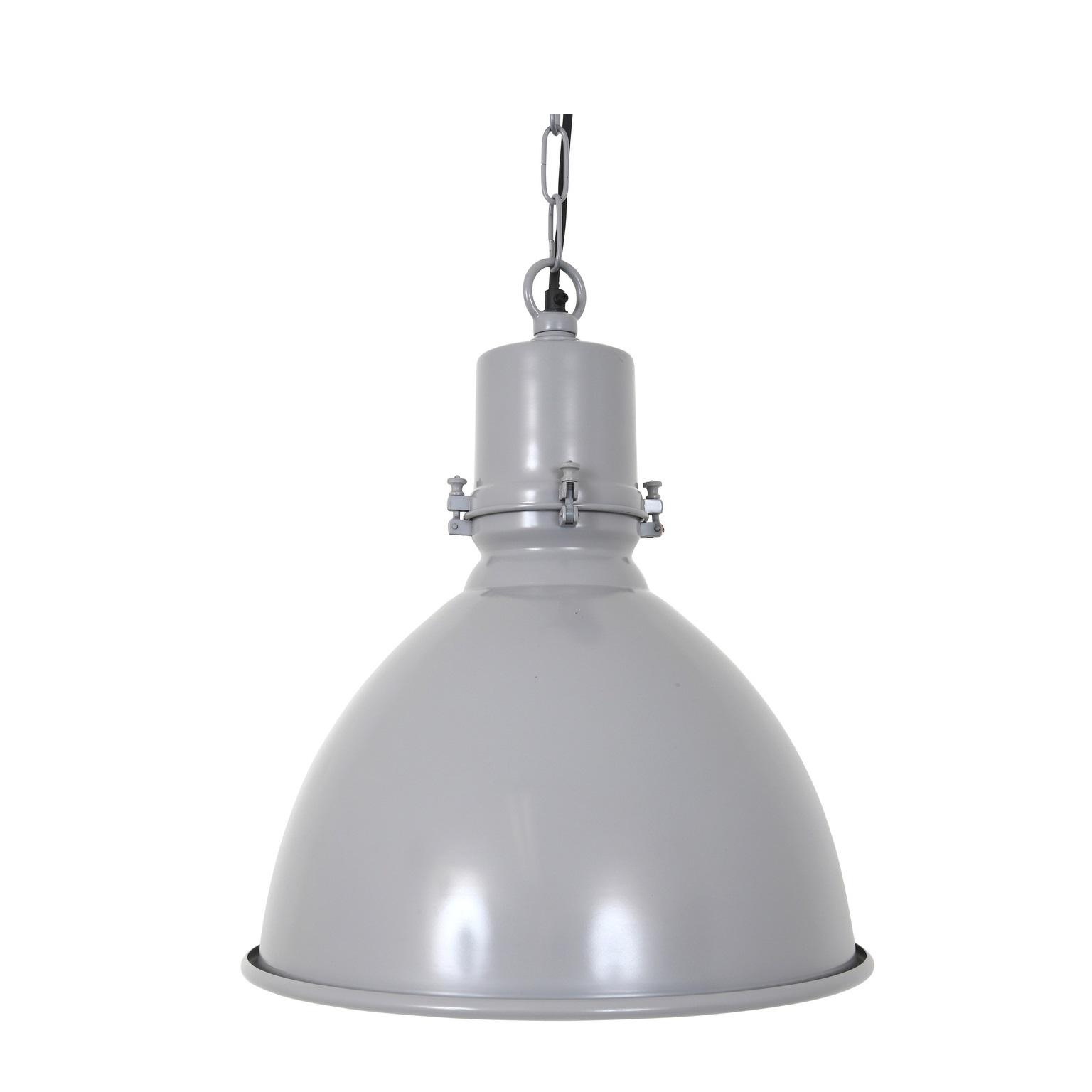industriele grijze fabriekslamp