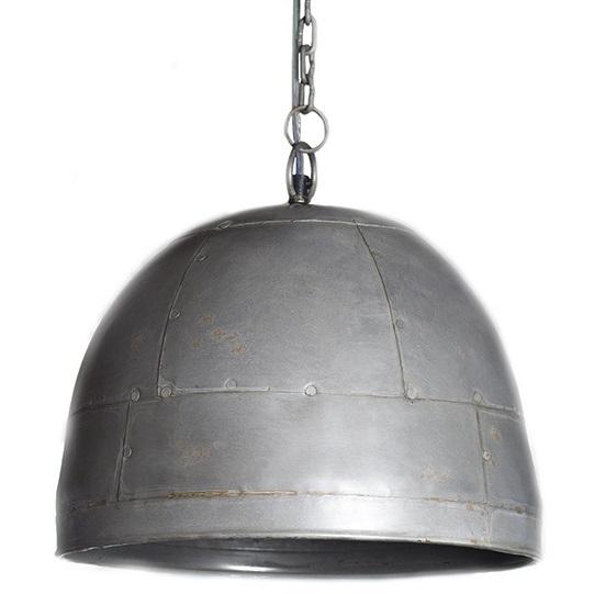 stoere hanglamp ruw zink