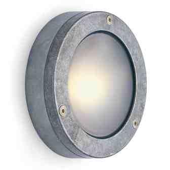 grijze aluminium buitenlamp