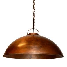 stoere hanglamp koper