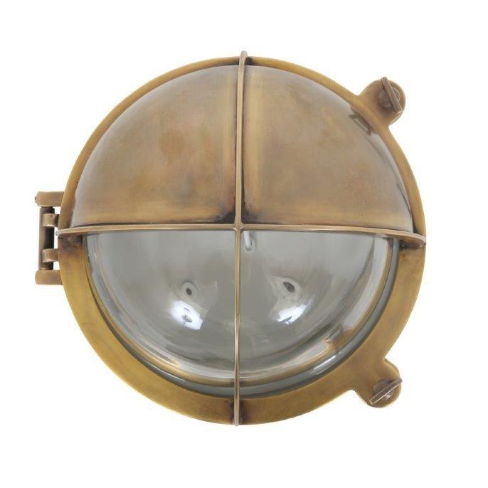 stoere koperen wandlamp