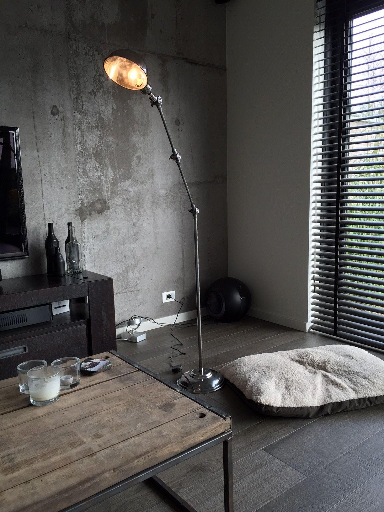 vloerlamp stoer zilver online kopen bij. Black Bedroom Furniture Sets. Home Design Ideas
