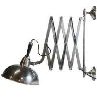 zilveren schaarlamp